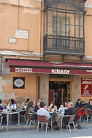 restaurant terrace Plaza de Regla , Leon spain castile and leon