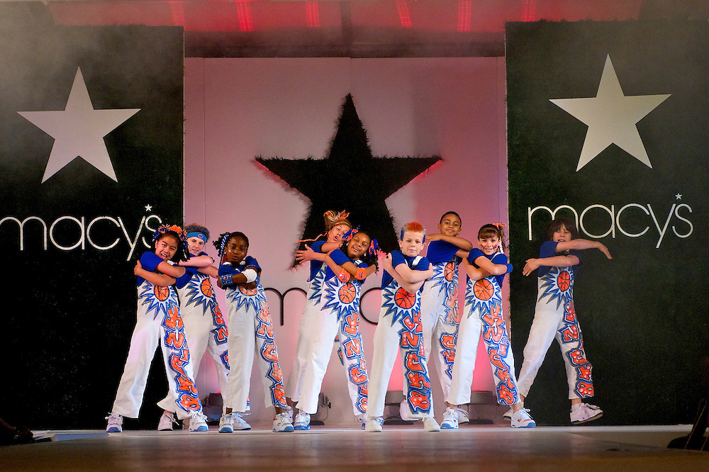 Dancers performing at a Macy's event.