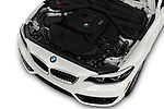 Car stock 2018 BMW 2 Series 230i Sport Line 2 Door Convertible engine high angle detail view