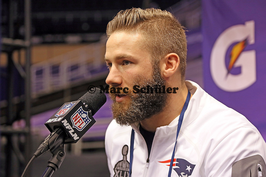 WR Julian Edelman (Patriots)  - Super Bowl XLIX Media Day, US Airways Center, Phoenix
