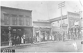 Gunnison business district with a lot of people posing for the camera.<br /> Gunnison, CO  1880-1881