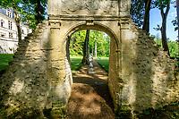 France, Indre-et-Loire (37), Amboise, château Gaillard, l'arche aux dauphins