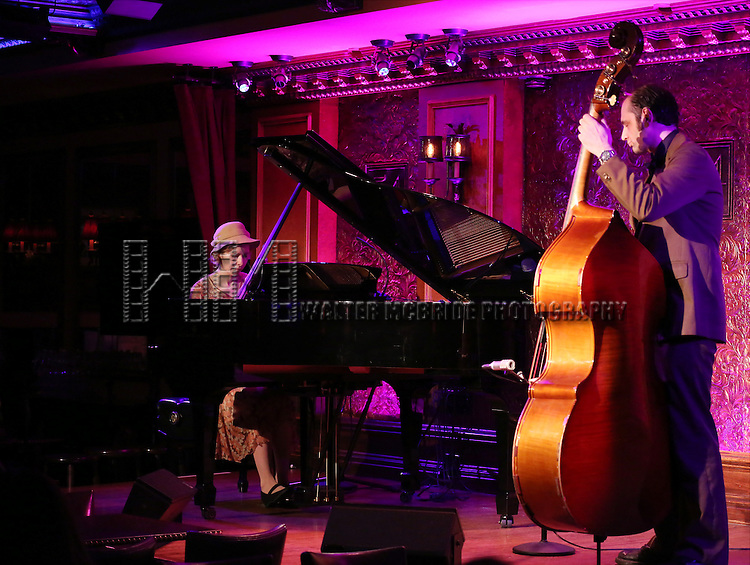 Nellie McKay, with Alexi David on upright bass, previews her show 'A Girl named Bill - The Life and Times of Billy Tipton' at 54 Below on July 10, 2014 in New York City.