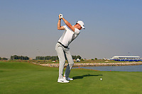 Chris Wood (ENG) during the first round of the NBO Open played at Al Mouj Golf, Muscat, Sultanate of Oman. <br /> 15/02/2018.<br /> Picture: Golffile | Phil Inglis<br /> <br /> <br /> All photo usage must carry mandatory copyright credit (&copy; Golffile | Phil Inglis)