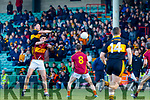 Daithi Casey Dr Crokes in action against Conor Cleary St Joseph's Miltown Malbay during the AIB Munster GAA Football Senior Club Championship Final match between Dr. Crokes and St. Josephs Miltown Malbay at the Gaelic Grounds in Limerick on Sunday.