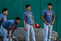 Pitchers de Mayos ,previo partido3 de beisbol entre Naranjeros de Hermosillo vs Mayos de Navojoa. Temporada 2016 2017 de la Liga Mexicana del Pacifico.<br /> © Foto: LuisGutierrez/NORTEPHOTO.COM
