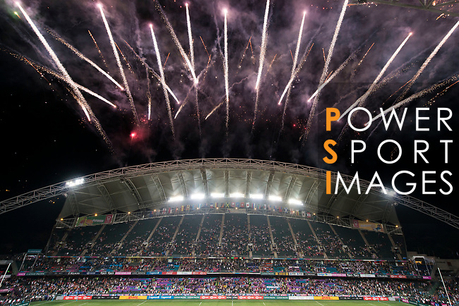 The closing ceremony of the HSBC Hong Kong Rugby Sevens 2018 on 08 April 2018, in Hong Kong, Hong Kong. Photo by Christopher Palma / Power Sport Images