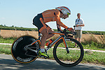 SITTARD, NETHERLANDS - AUGUST 16: Jon Aberasturi Izaga of Spain riding for Euskatel-Euskadi competes during stage 5 of the Eneco Tour 2013, a 13km individual time trial from Sittard to Geleen, on August 16, 2013 in Sittard, Netherlands. (Photo by Dirk Markgraf/www.265-images.com)