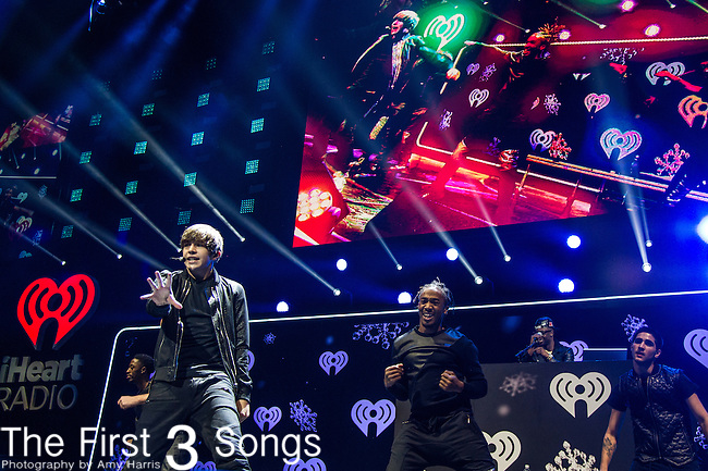 Austin Mahone performs at the Hot 99.5's Jingle Ball 2013 presented by Overstock.com, at the Verizon Center on December 16, 2013 in Washington, D.C.