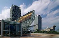Spanien, Katalonien, Barcelona, Hotel Arts und Fisch-Skulptur von Frank O.Gehry