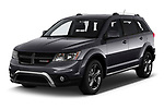 2019 Dodge Journey Crossroad FWD 5 Door SUV angular front stock photos of front three quarter view