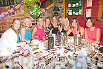 Birthday Celebrations: Claire Molyneaux, Listowel,celebrated her 30th birthday with her friends at Woulfes Bar and Restaurant, Listowel on Saturday. Pictured are from left: Sheila O' Connell, Niamh McCarthy, Claire Molyneaux, Geraldine O' Connor, Caroline Fealy, Ashling Galvin, Deirdre mccarthy Savage, Joanne O' Flaherty and Karen Joy.