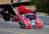 Jul. 18, 2010; Sonoma, CA, USA; NHRA funny car driver Cruz Pedregon during the Fram Autolite Nationals at Infineon Raceway. Mandatory Credit: Mark J. Rebilas-