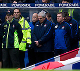 02.01.2011  RANGERS V CELTIC  SCOTTISH PREMIER LEAGUE  2010-11 SEASON  ....................    WALTER SMITH AND ALLY MCCOIST OBSERVE MINUTE'S SILENCE