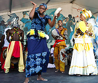 Kumbuka African Dance and Drum Collective at Jazz Fest 2011 on day 4.