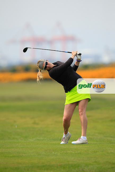 on the 3rd tee playing with Gary Murphy (Flogas Ambassador and former European Tour player) during the Flogas Irish Amateur Open Championship Am-Am at Royal Dublin on Monday 9th May 2016.<br /> Picture:  Thos Caffrey / www.golffile.ie
