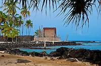Pu`uhonua (City of Refuge) O Hōnaunau, Kona coast, Big Island