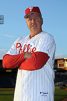 Feb 20, 2009; Clearwater, FL, USA; The Philadelphia Phillies coach Rich Dubee (30) during photoday at Bright House Field. Mandatory Credit: Tomasso De Rosa/ Four Seam Images