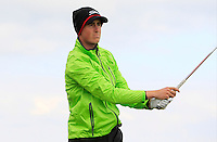 Gary Hurley (IRL) on the 15th tee during Round 4 of the 2015 Alfred Dunhill Links Championship at the Old Course in St. Andrews in Scotland on 4/10/15.<br /> Picture: Thos Caffrey | Golffile
