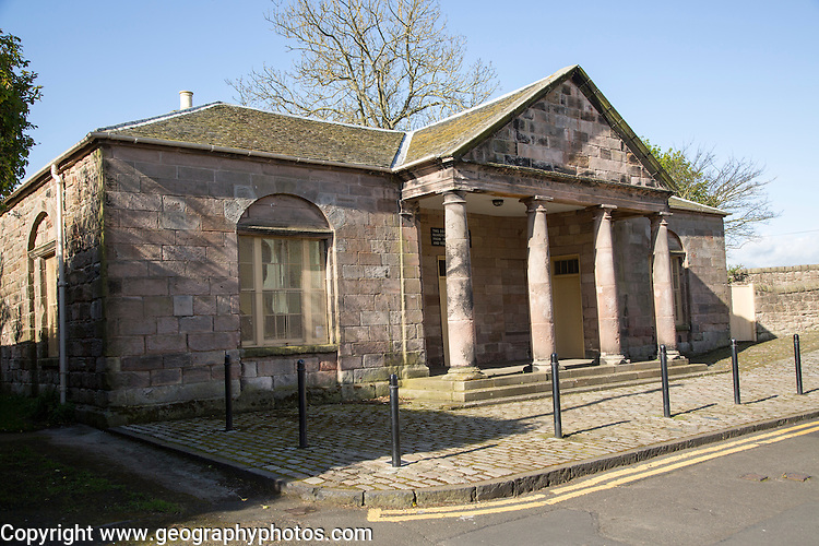 Historic guardhouse building, Berwick-upon-Tweed, Northumberland, England, UK