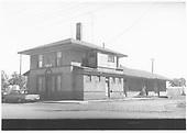 D&amp;RGW Del Norte depot in 1970.<br /> D&amp;RGW  Del Norte, CO  9/1970