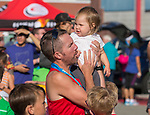 David Bobzien with his daughter during the 49th Annual Journal Jog in Reno, Nevada on Sunday, September 10, 2017.