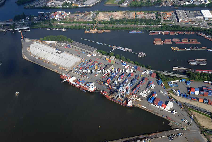 Mittlerer Freihafen, Travehafen, Oderhafen: EUROPA, DEUTSCHLAND, HAMBURG 21.06.2016 Mittlerer Freihafen, Travehafen, Oderhafen
