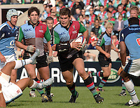 2005_06 National Division One, NEC Harlequins vs Newbury, Quins No.8 Nick Easter, goes for the gap, as Quins attck in the second half.Twickenham Stoop: 17.09.2005   © Peter Spurrier/Intersport Images - email images@intersport-images..