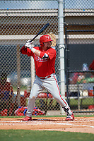 GCL Phillies first baseman Quincy Nieporte (33) at bat during a game against the GCL Tigers East on July 25, 2017 at TigerTown in Lakeland, Florida.  GCL Phillies defeated the GCL Tigers East 4-1.  (Mike Janes/Four Seam Images)