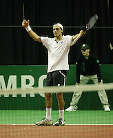 19-2-06, Netherlands, tennis, Rotterdam, ABNAMROWTT, Qualifying round, Calatrava faces defeat