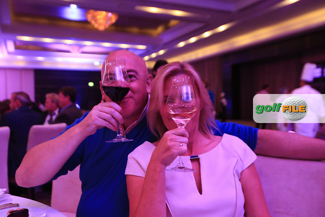 \{prsn}\ during Wednesday evening's Pro-Am dinner of the 2015 Commercial Bank Qatar Masters held at the St.Regis Hotel, Doha Golf Club, Doha, Qatar.: Picture Eoin Clarke, www.golffile.ie: 1/20/2015