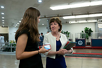 United States Senator Susan Collins (Republican of Maine) passes through the senate subway on Capitol Hill in Washington D.C., U.S. on July 30, 2019. Photo Credit: Stefani Reynolds/CNP/AdMedia