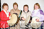 BODRHANS: Playing to their heart contents at the causeway Fleadh Ceoil on Thursday evening in Causeway were the lady Bodhran players l-r: Geraldine Quilter, Doreen Egan, Marge Regan and Breda O'Carroll....