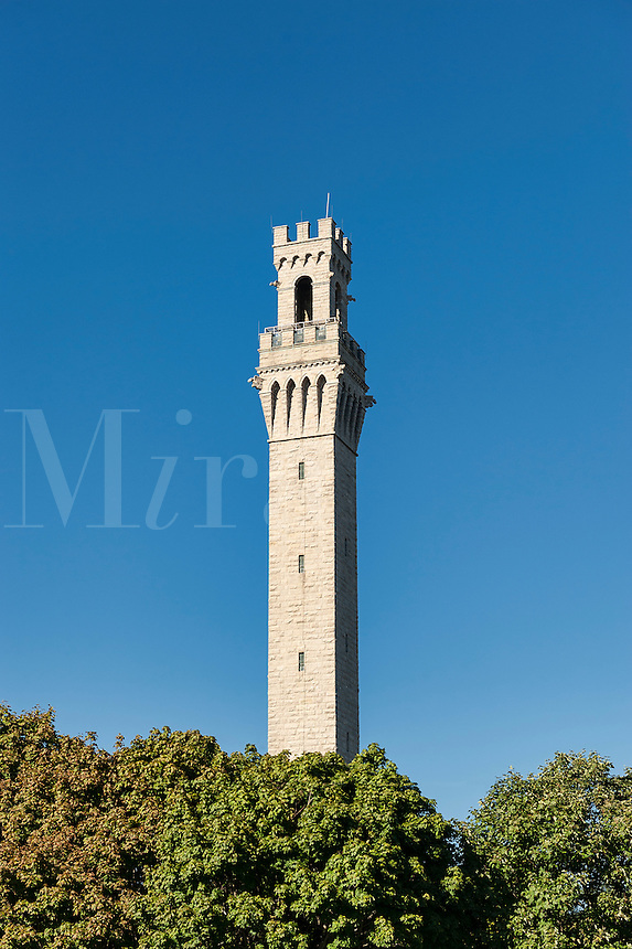 The Pilgrim Monument tower, Provincetown, Massachusetts, USA