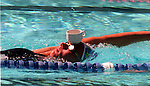 8th World Swimming Championships, Perth 1998 :German swimmer Dagmar  Hasi Takes a tea break during training.