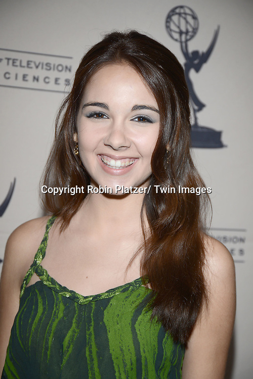 Haley Pullos attends the Academy Of Television Arts & Science Daytime Programming  Peer Group Celebration for the 40th Annual Daytime Emmy Awards Nominees party on June 13, 2013 at the Montage Beverly Hills in Beverly Hills, California.
