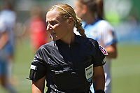 Portland, OR - Saturday August 05, 2017: Karen Abt during a regular season National Women's Soccer League (NWSL) match between the Portland Thorns FC and the Houston Dash at Providence Park.