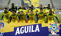 NEIVA-COLOMBIA, 01-09-2019: Jugadores de Atlético Huila posan para una foto antes de partido entre Atlético Huila y Deportes Tolima, de la fecha 9 por la Liga Águila II 2019 en el estadio Guillermo Plazas Alcid en la ciudad de Neiva. / Players of Atletico Huila pose for a photo prior a match between Atletico Huila and Deportes Tolima of the 9th date for the Aguila Leguaje II 2019 at the Guillermo Plazas Alcid Stadium in Neiva city. Photo: VizzorImage  / Sergio Reyes / Cont.