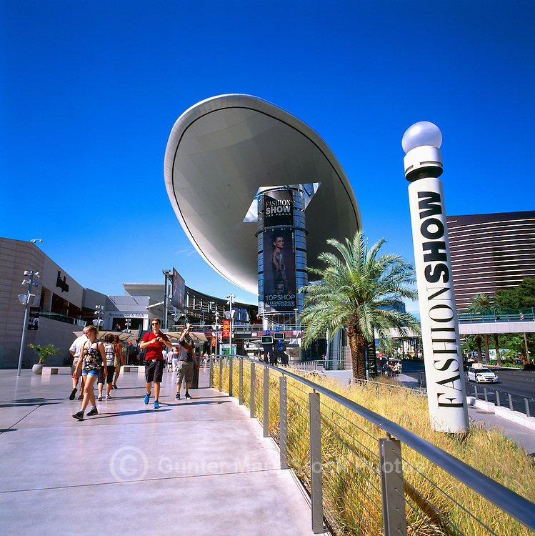 Las Vegas, Nevada, USA - The 'Fashion Show' along The Strip (Las Vegas Boulevard) - Oval-shaped Canopy known as 'The Cloud'