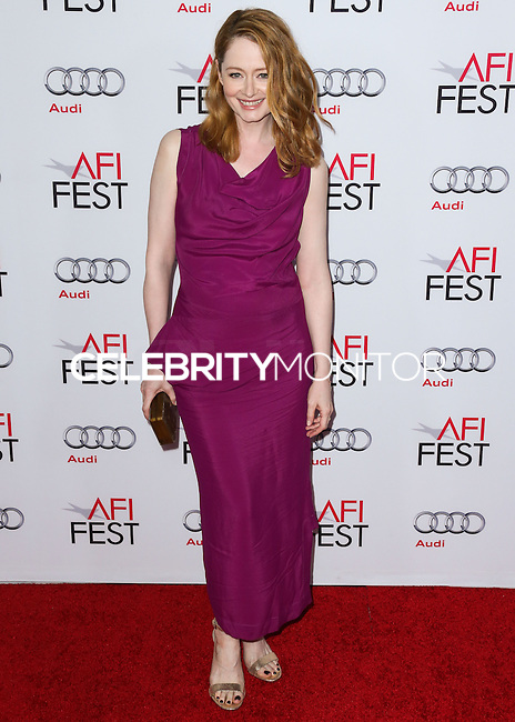 HOLLYWOOD, LOS ANGELES, CA, USA - NOVEMBER 11: Actress Miranda Otto arrives at the AFI FEST 2014 - 'The Homesman' Gala Screening held at the Dolby Theatre on November 11, 2014 in Hollywood, Los Angeles, California, United States. (Photo by Xavier Collin/Celebrity Monitor)
