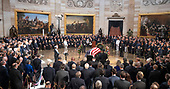 Lying in State ceremony honoring the late United States Senator John McCain (Republican of Arizona) in the US Capitol Rotunda in Washington, DC on Friday, August 31, 2018.<br /> Credit: Ron Sachs / CNP<br /> <br /> (RESTRICTION: NO New York or New Jersey Newspapers or newspapers within a 75 mile radius of New York City)
