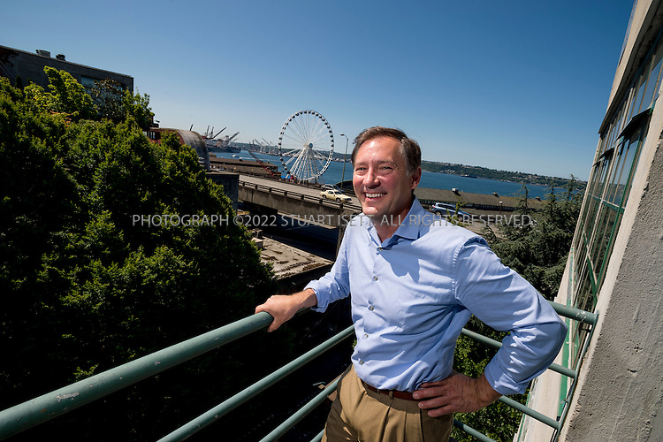 7/5/2012--Seattle, WA, USA..Peter Steinbrueck, architect and politician, posing outside his offices in Seattle, WA...©2012 Stuart Isett. All rights reserved.