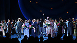 Brittany Pollack, Amar Ramasar,  Alexander Gemignani, Jessie Mueller, Renee Fleming, Joshua Henry, Lindsay Mendez, Margaret Colin and John Douglas Thompson during the Opening Night Curtain Call for 'Carousel' at the Imperial Theatre on April 12, 2018 in New York City.