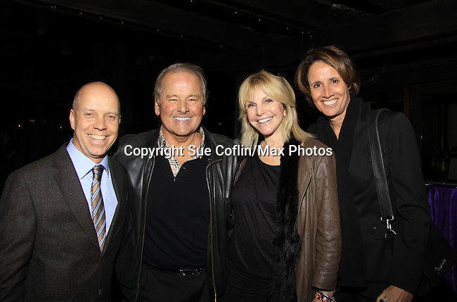 Scott Hamilton & New York Ranger Hockey Player Rod Gilbert & wife Judy Christie & Tennis great and sportcaster Mary Carillo  - The 2013 Skating with the Stars- a benefit gala for Figure Skating in Harlem on April 8, 2013 at Trump Wollman Rink, New York City, New York. (Photo by Sue Coflin/Max Photos)