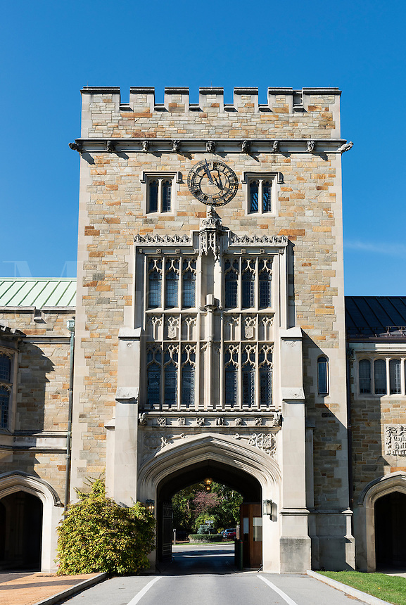Main gate at Vassar College, Poughkeepsie, New York, USA