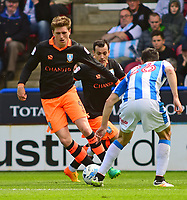 Sheffield Wednesday's Adam Reach vies for possession with Huddersfield Town's Christopher Schindler<br /> <br /> Photographer Andrew Vaughan/CameraSport<br /> <br /> The EFL Sky Bet Championship Play-Off Semi Final First Leg - Huddersfield Town v Sheffield Wednesday - Saturday 13th May 2017 - The John Smith's Stadium - Huddersfield<br /> <br /> World Copyright &copy; 2017 CameraSport. All rights reserved. 43 Linden Ave. Countesthorpe. Leicester. England. LE8 5PG - Tel: +44 (0) 116 277 4147 - admin@camerasport.com - www.camerasport.com