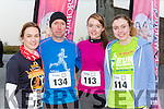 Vivian Juffs Killorglin, Stephen Griffin Beaufort, Marion Lynch Kells, and Emma Carey Dromid at the Killorglin Jingle Run on Saturday morning