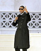 "Washington, DC - January 18, 2009 -- Usher performs at the ""Today: We are One - The Obama Inaugural Celebration at the Lincoln Memorial"" in Washington, D.C. on Sunday, January 18, 2009..Credit: Ron Sachs / CNP.(RESTRICTION: NO New York or New Jersey Newspapers or newspapers within a 75 mile radius of New York City)"