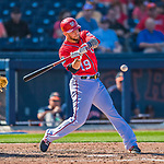 28 February 2017: Washington Nationals outfielder Brandon Snyder in Spring Training action during the inaugural game against the Houston Astros at the Ballpark of the Palm Beaches in West Palm Beach, Florida. The Nationals defeated the Astros 4-3 in Grapefruit League play. Mandatory Credit: Ed Wolfstein Photo *** RAW (NEF) Image File Available ***