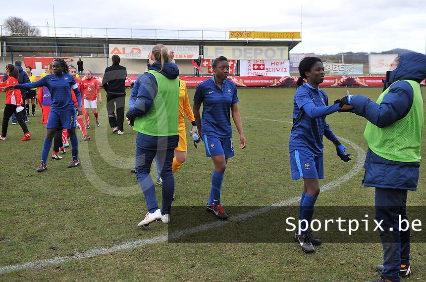 Switzerland U19 - France U19 : France celebrating their win and qualification.foto DAVID CATRY / Nikonpro.be